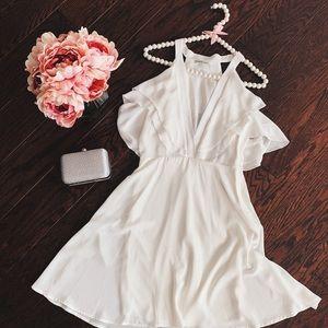 Charlotte Russe brand 🤍 flowy white dress